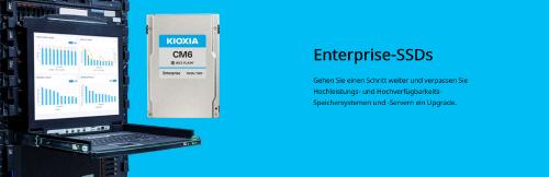 Kioxia bringt erste 24G-SAS-SSDs für Server auf den Markt