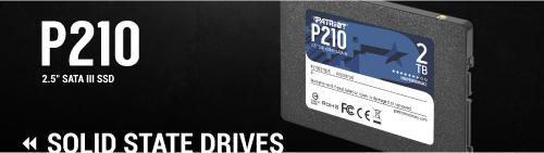 Patriot P210: SATA-SSD mit bis zu 2 TB Speicherplatz