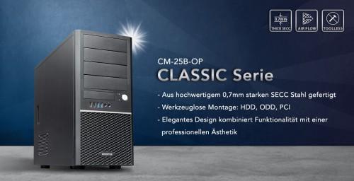 Chieftec CM-25B-OP: Einfaches Gehäuse der Classic-Serie