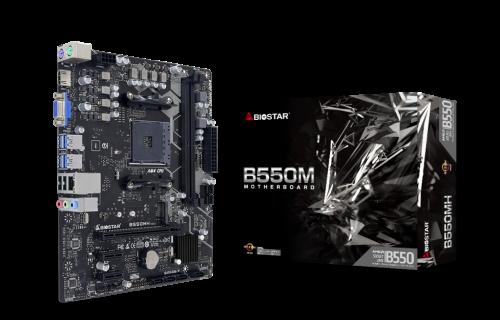 Biostar B550MH: B550-Mainboard mit Sockel AM4 im mATX-Format