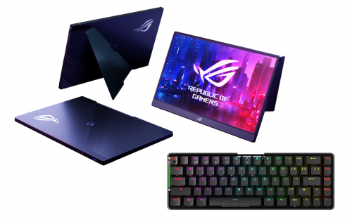 Asus stellt neue Tastatur und mobilen Monitor für das mobile Gaming vor