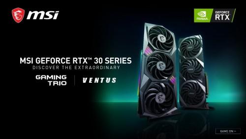Bild: MSI Modelle der GeForce RTX 3000 Serie - Erste Bilder und Livestream