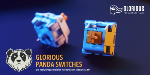 Glorious PC Gaming Race: Neue Panda-Switches ab sofort bei Caseking