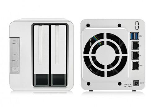 TerraMaster F2-422: 10GbE-NAS mit zwei Festplatteneinschüben