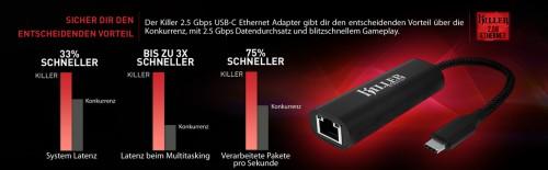 Rivet Networks: Killer-Netzwerkkarte mit 2,5 Gbit über USB-Typ-C-Anschluss