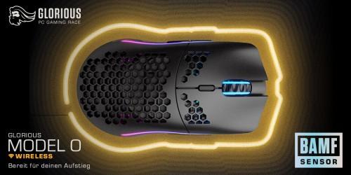 Glorious Model O Wireless: Gaming-Maus mit BAMF-Sensor bei Caseking vorbestellbar