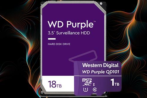 WD Purple: 3,5-Zoll-Festplatte mit bis zu 18 Terabyte Datenspeicher