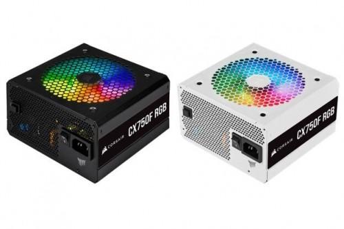 Bild: Corsair CX-F RGB: Neue Einsteigernetzteile mit RGB-Beleuchtung