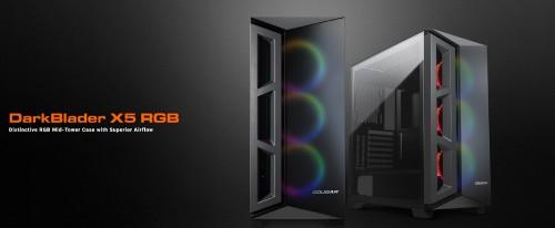 Cougar DarkBlader X5/X7: Neue Gehäuse mit RGB-LEDs und auffälliger Front