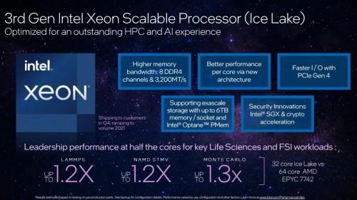 Intel Ice Lake: Mit halb so vielen Kernen schneller als AMD Epyc-CPUs?