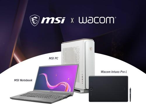 MSI und WACOM stellen kreative Kooperation mit Hardware-Bundles vor