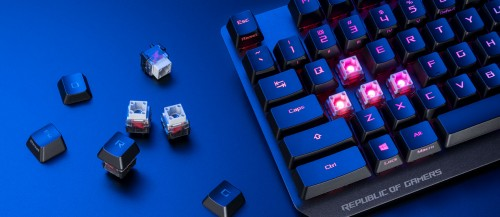 Asus ROG Strix Scope RX: Tastatur mit den neuen ROG-Switches
