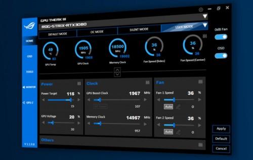 Asus GPU Tweak III: Erste Open-Beta-Phase gestartet