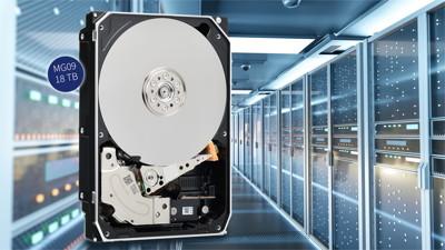 Bild: Toshiba: Erste 18-TB-Festplatte mit neuer MAMR-Technik