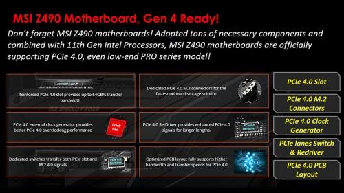 MSI Z490: BIOS-Updates für PCIe-4.0-Freischaltung mit neuen Intel-CPUs angekündigt