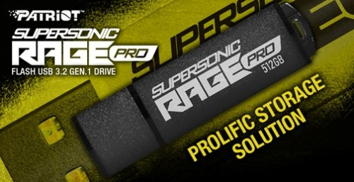 Patriot Supersonic Rage Pro: USB 3.2 Gen 1 Stick mit bis zu 512 GB