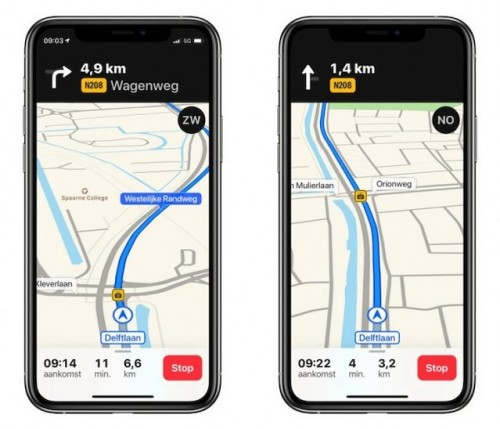 Apple Maps starte mit Blitzerwarnungen in Europa