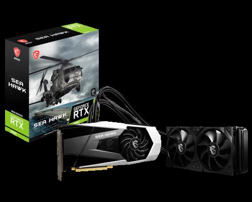 MSI GeForce RTX 3080 Sea Hawk X: Grafikkarten mit AiO-Wasserkühler