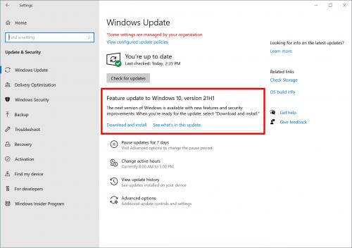 Microsoft bereitet größeres Update 21H1 für Windows 10 vor