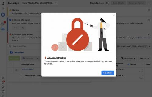 Signal nutzt offen die Facebook-Werbemittel und wird dafür blockiert