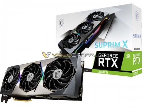 Bild: MSI GeForce RTX 3070 Ti Suprim X und Ventus 3X bestätigt
