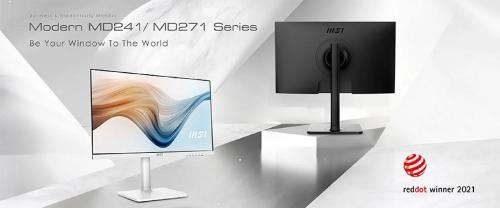 Bild: MSI MD241 und MD271: Neue Office-Monitore gewinnen Red Dot Design Award