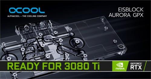Alphacool Eisblock Aurora GPX mit vielen GeFore RTX 3080 Ti kompatibel