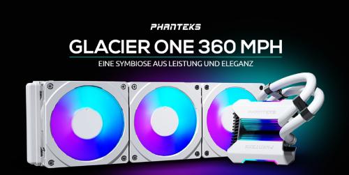 Phanteks Glacier One 360MPH: AiO-Wasserkühlung mit hoher Kühlleistung und RGB-Beleuchtung