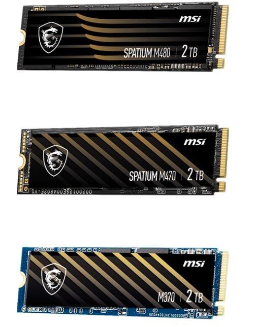 MSI Spatium M-Series: Neue NVMe-SSDs mit M.2-Anschluss