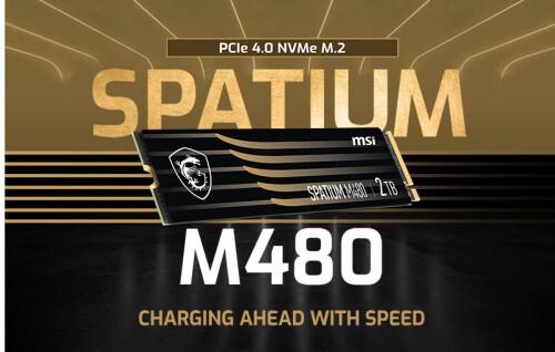 Bild: MSI Spatium M-Series: Neue NVMe-SSDs mit M.2-Anschluss