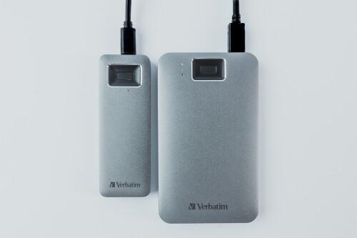 Verbatim stellt externe Laufwerke mit Finderabdruckscanner vor