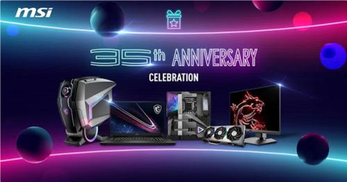 Bild: MSI feiert den 35. Geburtstag mit vielen Rabatten und Gewinnen