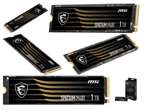 MSI Spatium M480: Neue M.2-NVMe-1.4-SSD mit bis zu 2 TB-Speicher