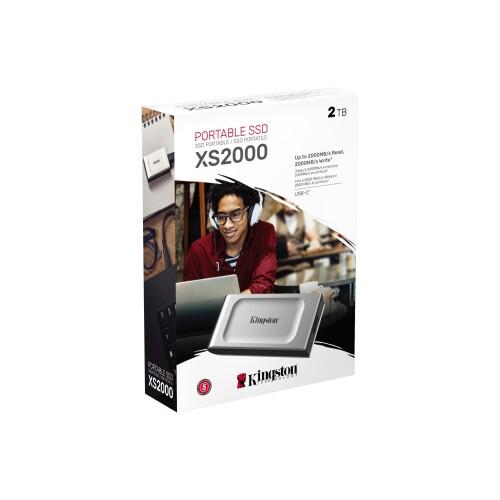 Kingston XS2000: Portable SSD mit USB-3.2-Gen2x2-Anschluss