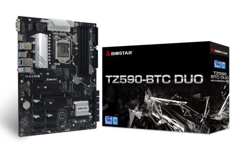 Biostar TZ590-BTC Duo Mining: Neues Mining-Mainboard mit Sockel LGA 1200