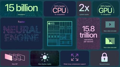 Apple A15 Bionic: Genauere Details des System-on-a-Chips stehen noch aus