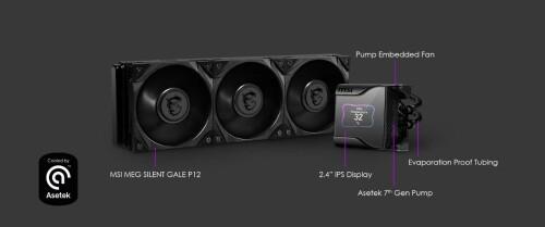 MSI MEG Coreliquid S: Neue AiO-Wasserkühler mit 0-RPM-Modus