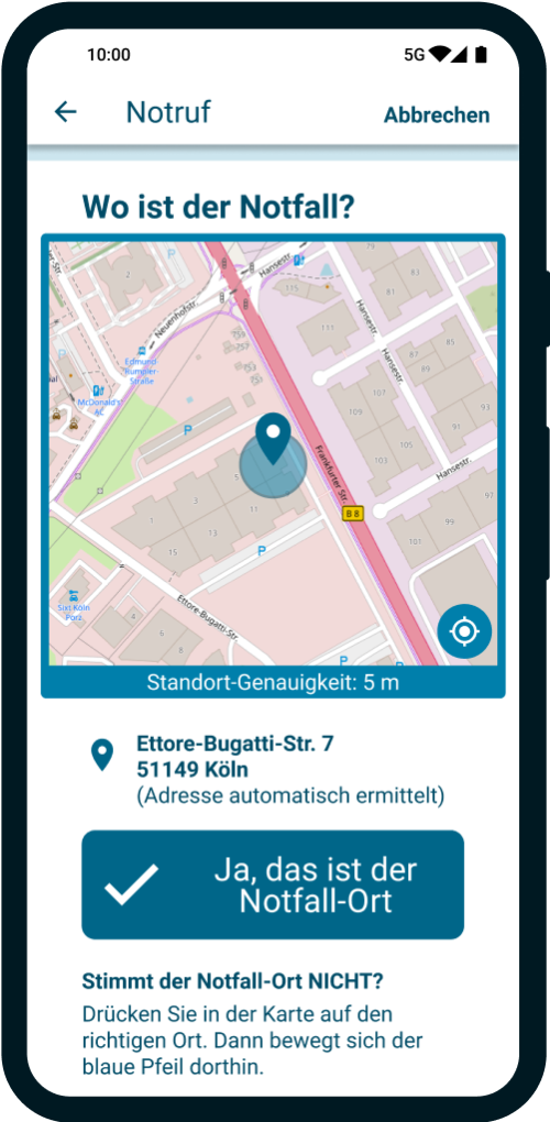 Nora: Offizielle Notruf-App mit Standort-Übermittlung