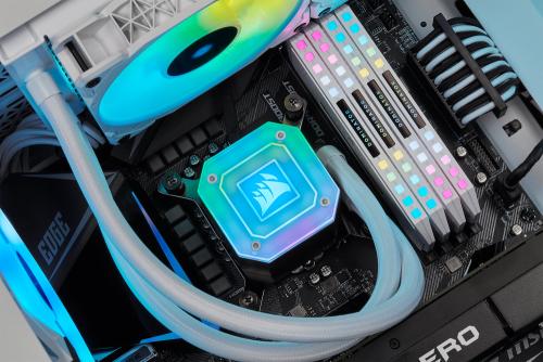 Corsair: AiO-Wasserkühlungen sind mit neuer Halterung Sockel LGA 1700 kompatibel
